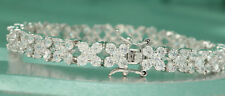 3ct. Round Cut Diamond Tennis Bracelet In 14k White Gold Finish 7""