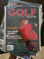2001 Beckett Golf Collector Magazine-Tiger Woods Cover