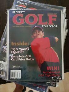 2001 Beckett Golf Collector Magazine-Tiger Woods Cover