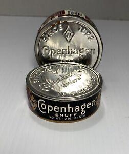 2 Vintage Antique Copenhagen Snuff Tabacco Containers June 04 -1990k Empty Boxes