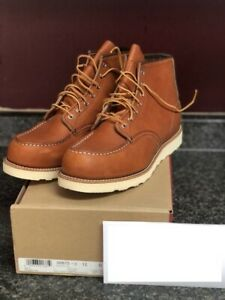 Red Wing 875 Heritage 6 Inch Moc Toe Boot for Men, Size 12 - Oro Legacy - New