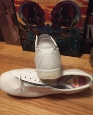 Vintage 60s Era PATRICK Cushion Insole White Leather Shoes. Size 46 EU Rare.