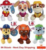 Paw Patrol Toys Set Nickelodeon Plush Soft Dog Pals SKYE ZUMA ROCKY Rubble Chase