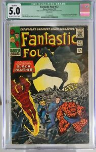 FANTASTIC FOUR # 52 - CGC QUALIFIED 5.0 - (GF) - 1st app of the BLACK PANTHER.