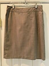 Causal Corner Women's Stretch Wool Spandex Lined Straight Skirt Size 10 Tan