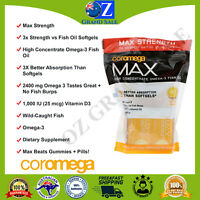 Coromega, Max, High Concentrate Omega-3 Fish Oil, Citrus Burst, 60 Squeeze
