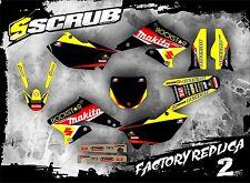 Suzuki graphics RMz 250 2004 2005 2006 stickers '04 '05 '06 SCRUB decals kit