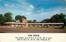 DuQuoin Illinois~Hub Motel on Main St~Varnum Price is Right Guess 1957