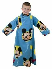 Official Disney Mickey Mouse Blue Yellow Sleeved Fleece Blanket