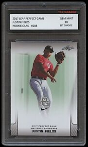 JUSTIN FIELDS 2017 LEAF PERFECT GAME NATIONAL SHOWCASE 1ST GRADED 10 ROOKIE CARD