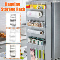 Kitchen Refrigerator Home Side Storage Holder Multipurpose Organizer Rack Shelf