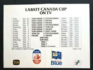 1987 World Hockey Canada Cup Series Schedule Vintage