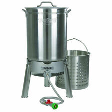 Bayou Classic KDS-144 Stainless Steel 44 Quart Seafood & Crawfish Cooker Kit