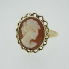 Ring Size 7 1/2 Vintage 10k Yellow Gold Cameo
