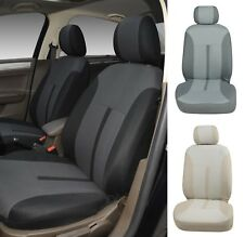 A161 Black / Charcoal Fabric 2 Front Bucket Car Seat Covers for Toyota Tacoma
