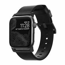 Nomad - Modern Strap Horween Leather For Apple Watch 42mm series 3 BLACK