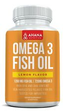 TRIPLE STRENGTH OMEGA 3 FISH OIL PILLS 1200MG - HIGHEST POTENCY LEMON FLAVOR