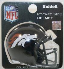 NFL American Football DENVER BRONCOS Riddell SPEED Pocket Pro Helmet