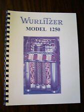 Wurlitzer Model 1250 Jukebox Manual