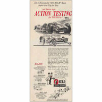 1966 Bear Mfg: Indianapolis 500 Mile Race, Action Test Vintage Print Ad