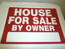 "LOT OF (5) HILLMAN *HOUSE FOR SALE BY OWNER SIGN* 24"" x 18"" DOUBLE SIDED"