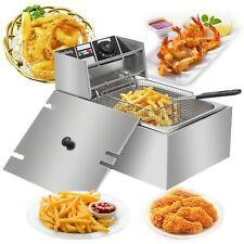 2500w 6l 63qt Electric Deep Fryer Commercial Tabletop Restaurant Fry Basket