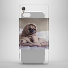 Cute Pug in Bed Phone Case Hard 360 Protection Cover