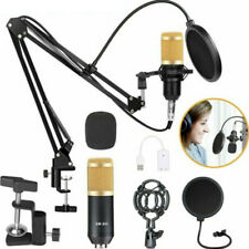 Audio Vocal Studio Condenser Microphone Mic Sound Recording Kit With Shock Mount