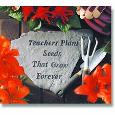 Kay Berry 67120 Teachers Plant Seeds That Grow Forever, Memorial Stone, Gray New