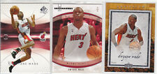 3x DWYANE WADE, Heat 04 SP Authentic, 07 Hot Prospects, Artifacts