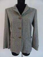 Kiton Damen Tweed Blazer Jacke 100% Kaschmir Grau It.44 Dt.38 / 40 Made in Italy