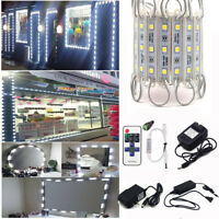 US White 10~100FT SMD 5050 3 LED Module Store Front Window Light Sign Lamp Kits