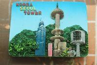 Korea, Seoul Tower, Tourist Travel Souvenir 3D Resin Fridge Magnet Craft GIFT