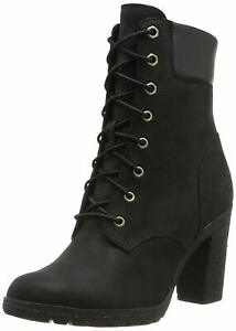 "Women's Timberland GLANCY 6"" BOOTS, TB08432A 001 Size 9.5 Black Nubuck"