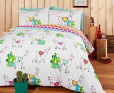 Rapport Happy Llamas Reversible Duvet Set Polyester-cotton Double