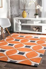Orange Contemporary Area Rugs Ebay