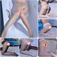 Women's Shiny Glossy See-through Pantyhose Seamless Sheer Stockings Nylon Tights
