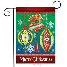 "Christmas Ornaments Garden Flag Holiday Decorations 12.5"" x 18"" Briarwood Lane"