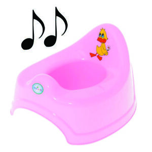 Potty Training - Musical Potty For Toddlers Easy To Clean - Duck (Pink)