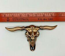 Belt Buckle Longhorn Bull Skull Copper Color Men Women ---- Free Shipping!