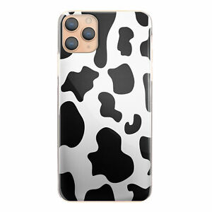 Cow Print Phone Case for iPhone 12/11/Pro/Max/XR/Samsung S20/A51/A20e Hard Cover