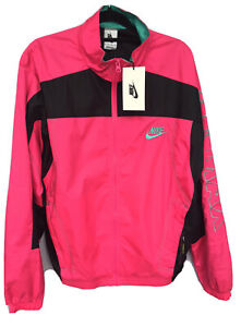 Nike x Atmos Air Max Patchwork Track Jacket XS Hyper Pink Loose Fit BNWT