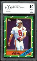 1986 Topps #374 Steve Young Rookie Card BGS BCCG 10 Mint+