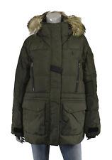 Women's Ralph Lauren Polo Green Down Fur Jacket Coat Parka New