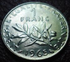 1965 FRANCE 1 FRANC IN UNCIRCULATED CONDITION