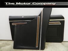 1970 1971 1972 Nova Black Interior Door Panels Front and Rear Set J2-7420