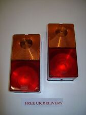 one pair of Britax 9002 Rear Trailer Combination Lights with 12V bulbs Free P&P