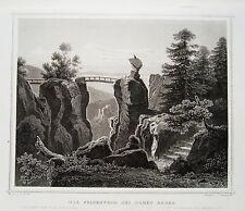 Das Felsentor bei Baden-Baden echter alter Stahlstich 1850