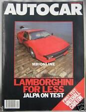 Autocar 5111986 Featuring Lamborghini Jalpa Ford Granada Rover Vauxhall