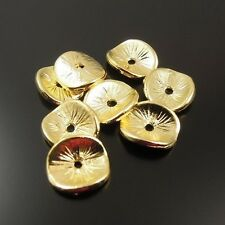 32138 Gold Tone Lemon Slices Round Beads Cap Jewellry Findings 10*8*1mm 200pcs